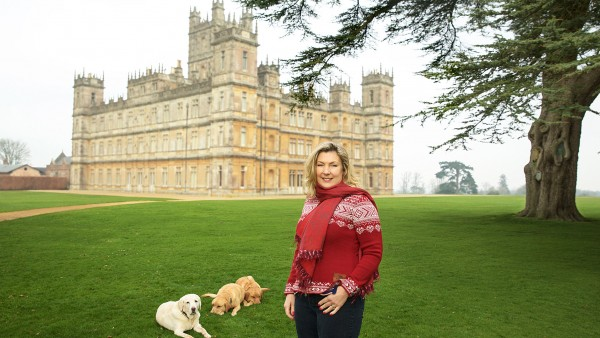 Anne Diamond cooks with Lady Carnarvon at Highclere Castle