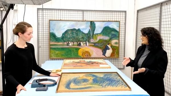 Painting Conservator Linn Solheim