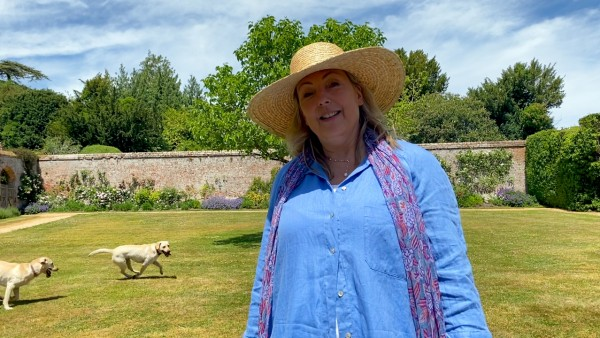 At Home at Highclere Castle: Lavender and Roses