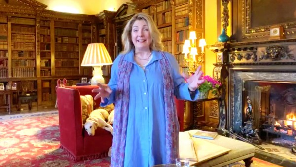 At Home at Highclere Castle: The Library