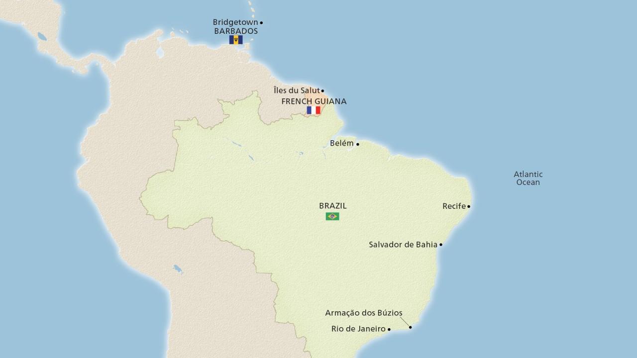 Brazil's Vibrant Coast (Ocean)